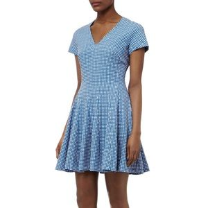 Reiss Myrtle Pin Print Fit And Flare Dress
